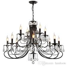american crystal chandelier lights nordic country living room bedroom lamps retro new personality creative wrought iron restaurant lightings chandelier