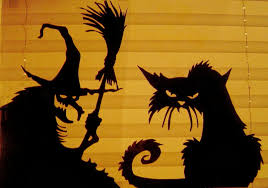 love halloween window decor:  images about halloween silhouettes on pinterest witch silhouette spooky halloween decorations and window
