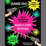 Free Laser Tag Invitation Template Free Laser Tag Birthday Invitations Stunning Free Printable Laser
