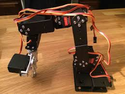 finished sainsmart 6 servo robot arm build