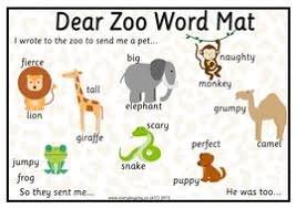 in literacy we are going to be using adjectives to describe our own ake our own lift the flap books i wonder what the zoo might send you