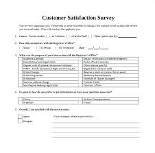 Customer Satisfaction Questionnaire Template Survey Sample Free Csat
