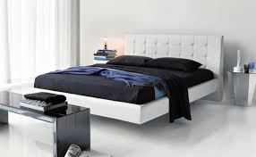 bedroom unusual bedroom furniture set with white floating bed between and mirrored nightstands decor idea