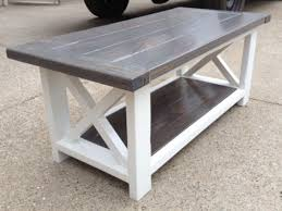 Furniture: White Rustic Coffee Table New Rustic X Coffee Table Do It  Yourself Home Projects