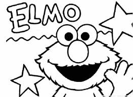 Coloring Pages Kids Elmo Free Printable