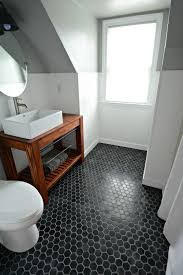 bathroom flooring tiles. Small,+Inexpensive+Bath+Reveal+{beadboard,+farmhouse,black+ Bathroom Flooring Tiles