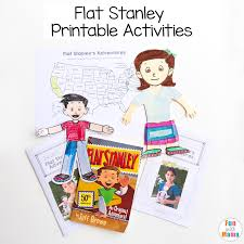 Flat Stanley Template Delectable Flat Stella Flat Stanley Printable Activities Fun With Mama