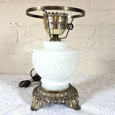 hobnail milkglass lamp vintage milk glass table lamps vintage white milk glass table lamp hobnail milk