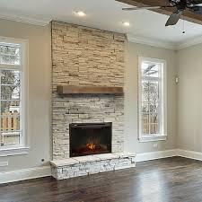 concrete mantel shelf living room stone chimney black brass fireplace screen red including beautiful concrete mantel
