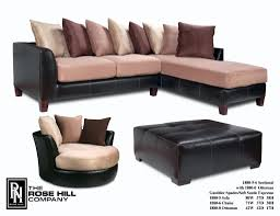 Two Piece Living Room Set Gambler Spades Soft Suede Espresso Sectional And Chair Set 1499