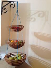Wooden Three Tiered Hanging Fruit Basket by BackyardMillworks, $35.00
