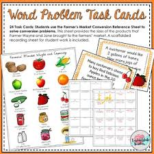 Customary Conversions Measurement Task Cards Capacity And Weight