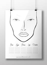 the dollz on twitter blank face charts updated design free here t co lngqi2xzk4 mua facechart makeup makeupartist