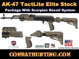 B 2 20 1250 c AK 47 TactLite Stock Package With Scorpion Recoil