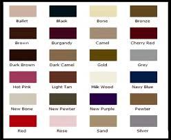 Waproo Colour Chart Waproo Colour Change