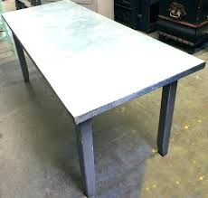 zinc top dining table image of coffee reclaimed wood large si zinc coffee table nice top