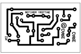 12v battery checker circuit battery checker pcb layout