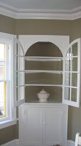 corner cabinets dining room: image detail for blank slate of a built in curio cabinet in the corner of the room