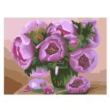 <b>RIHE</b> Blooming <b>Flower</b> Painting By Numbers <b>Rose</b> Oil Painting On ...