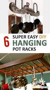 6 super easy diy hanging pot racks pot racks pot racks hanging diy
