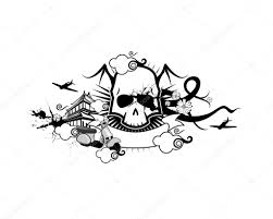 Gothic Skull Design Gothic Skull Design Stock Photo B14ckminus 118037292