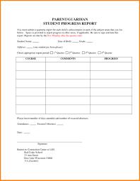 006 Student Progress Report Template Templates Sample