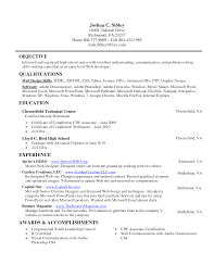 Entry Level Resume Samples For High School Students - April ...