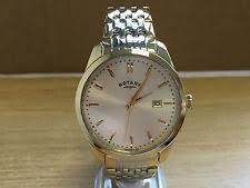 mens rotary watch two tone brand new men s rotary two tone bracelet watch gb03851 03