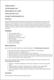 Reimbursement Specialist Resume