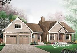 House plan W detail from DrummondHousePlans comfront   BASE MODEL Affordable Craftsman home   unfinished basement  and  car garage