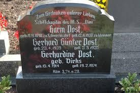 Grab von Gerhard Günter Post (23.04.1935-03.05.1935), Friedhof ...