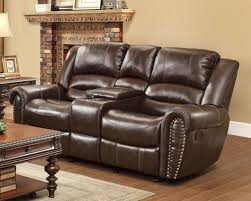 reclining brown loveseat center hill by homelegance el 9668brw 2