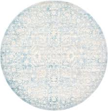 round blue rug light blue 6 x 6 new vintage round rug area rugs