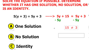 solving multi step equation no solution