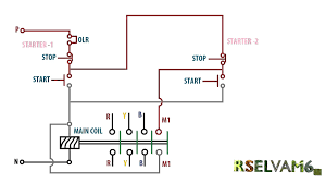 phase motor one 2on 2off switch controlsingle starter two on off Wiring Schematic 3 Phase Circuit at 2 Gang 3 Phase Wiring Diagram Schematic
