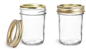 metal caps clear glass jars clear glass jelly jars w gold two piece canning lids