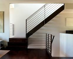 Modern Handrail steel flat bar hand rail staircase modern with wood flooring 2903 by guidejewelry.us