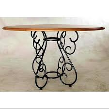 get ations table base for round tops wrought iron base for wood tops burnished copper