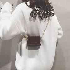 Mini <b>Baggage Girls 2019 New</b> Chain Hundred Laps Chain Slant ...