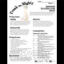freak the mighty essay prompts grading rubrics by created for freak the mighty essay prompts grading rubrics