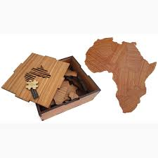 africa puzzle in wooden box large