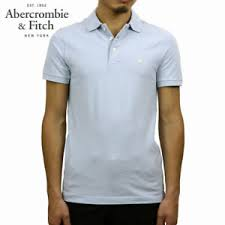 Details About Abercrombie Fitch Blue Stretch Polo T Shirt Size Uk Large L Wb30