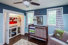 blue nursery furniture. View In Gallery Make Use Of The Limited Space On Offer Nursery [Design: CG\u0026S Design Blue Furniture