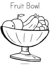 Small Picture Fruit Bowl Coloring Page Twisty Noodle