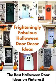 halloween door decorating ideas. Be Sure To Pin These Fun Halloween Door Decor Ideas For Later\u2026 Halloween Door Decorating Ideas R