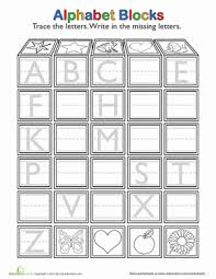 Trace and Write the Missing Letters | Worksheet | Education.comPreschool Kindergarten The Alphabet Letters Worksheets: Trace and Write the Missing Letters
