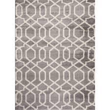 world rug gallery contemporary trellis design gray 5 ft x 7 ft indoor area