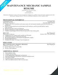 Maintenance Mechanic Resume Sample Maintenance Technician Resume Sample 176918005301 Maintenance