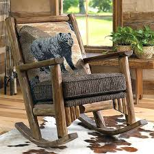 rustic rocking chair image of chairs oak plans