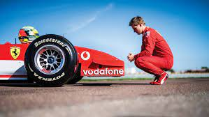 Mick schumacher, 20, completed his first day of f1 testing for the ferrari team. Mick Schumacher Drives Dad Michael S Soon To Be Auctioned Title Winning Ferrari Formula 1